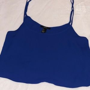 Blue S Forever 21 Crop Top with adjustable straps